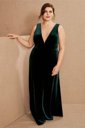 Jenny Yoo Logan Velvet Maxi Dress