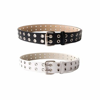 TENDYCOCO Women Waist Belt Holographic Clear Belt With Buckle Belt With Double Holes