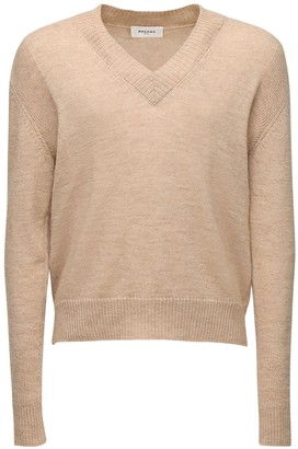 Rochas V Neck Knit Wool & Camel Sweater