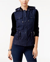 INC International Concepts Velvet Utility Jacket, Only at Macy's