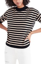 Madewell Women's Stripe Mock Neck Boxy Sweater