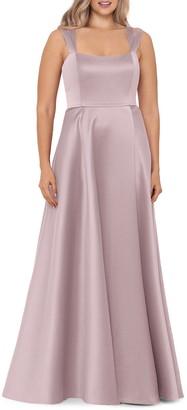Xscape Evenings Double Strap Satin A-Line Gown