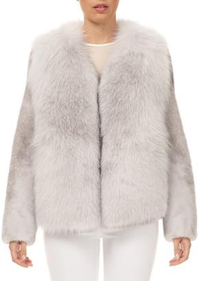 Gorski Fox Fur Jacket with Mink Fur Sleeves