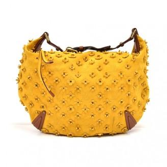 Louis Vuitton Onatah Yellow Suede Handbags