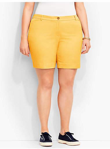 "Talbots 7"" Twill Short-Fashion Colors"
