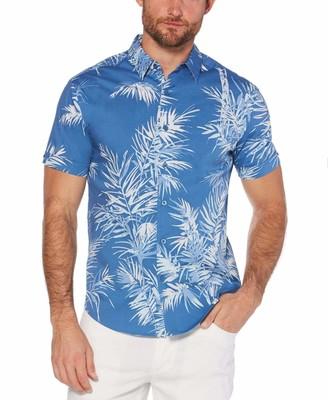 Cubavera Slim Fit Leaf Shirt