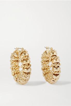 Laura Lombardi + Net Sustain Serena Gold-plated Hoop Earrings - one size