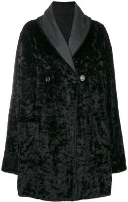 Fendi Pre Owned Fur Effect Boxy Coat