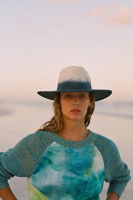 Anthropologie Watercolor Tie-Dye Sweater By in Blue Size XS