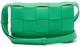 Bottega Veneta Cassette Small Intrecciato Leather Cross-body Bag - Green