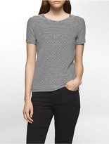Calvin Klein Textured Wave Short Sleeve Top
