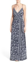Paige Women's 'Regina' Print Maxi Surplice Dress