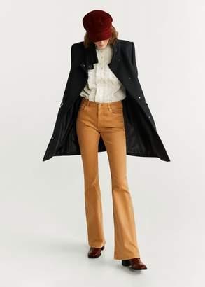 MANGO Straight-cut wool coat light heather grey - XXS - Women