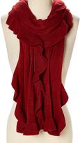 La Fiorentina Oxblood Red Knit Scarf