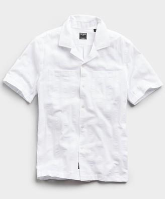 Todd Snyder Two Pocket Maui Stripe Short Sleeve Shirt