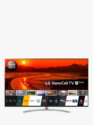 "LG Electronics 75SM9900PLA (2019) LED HDR NanoCell 8K Ultra HD Smart TV, 75"" with Freeview Play/Freesat HD, Cinema Screen Design, Dolby Atmos & Crescent Stand, Black"