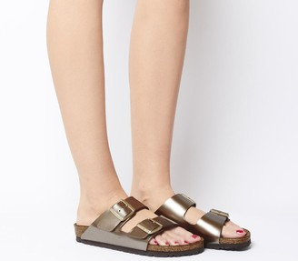 Birkenstock Arizona Two Strap Sandals Electric Metallic Taupe