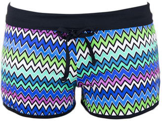 MC2 Saint Barth Zig Zag Beach Shorts For Women