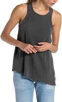 n:PHILANTHROPY - Lourdes Racer Tank with Studs - Ghost