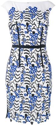 Talbot Runhof Lace Applique Shift Dress