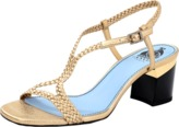 Lanvin Braided Block Heel Sandal