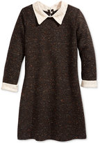 Bonnie Jean Little Girls' Lace-Collar Tweed Dress