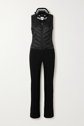 Bogner Carys Quilted Shell And Ponte Ski Suit - Black