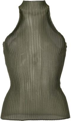 Dion Lee Corrugated Sheer Tank Top
