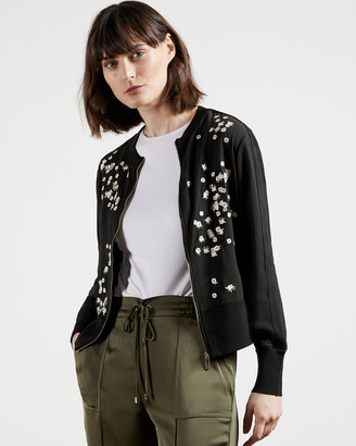 Ted Baker PRIYAA Elderflower embroidered cardigan