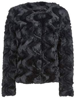 Dorothy Perkins Womens **Vero Moda Black Faux Fur Coat, Black