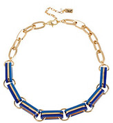 Kenneth Cole Goldtone and Blue Oval Link Frontal Necklace