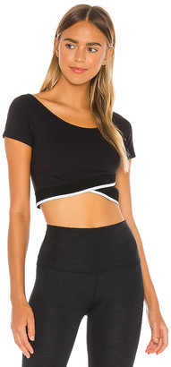 Beyond Yoga Cross For Words Reversible Cropped Top