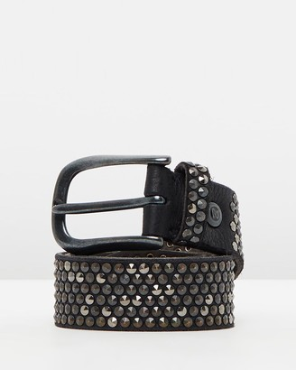 B. Belt B.Belts - Women's Black Leather Belts - Studded Leather Belt - Size One Size, 80cm at The Iconic