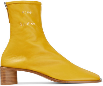 Acne Studios Bertine Logo-print Stretch-leather Sock Boots