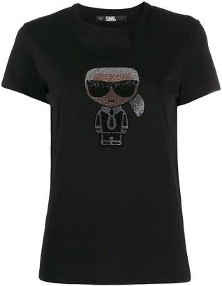 Karl Lagerfeld Paris iconic embellished T-shirt