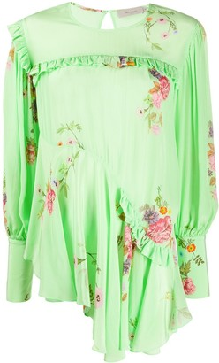 Preen Line Kapona floral print top