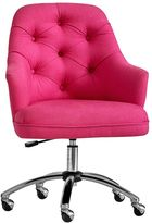 Tufted Desk Chair, Pink Magenta