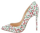 Christian Louboutin Pigalle Cherry Print Pumps