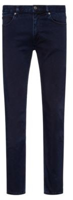 HUGO BOSS Skinny Fit Jeans In Dark Blue Satin Touch Denim - Dark Blue