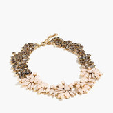 J.Crew Two-tone floral necklace