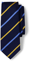 Lands' End Men's Regimental Stripe Necktie-Pink