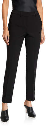T Tahari Slim-Leg Ankle Pants with Piping