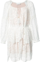 Zimmerman Long Sleeve Tiered Lace Dress