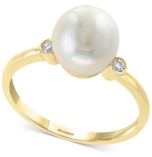 Effy Cultured Freshwater Pearl (8mm) & Diamond Accent Ring in 14k Gold
