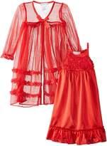 Komar Kids Little Girls' Toddler Peignoir Gown Set