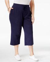 Karen Scott Plus Size Knit Capri Pants, Only at Macy's