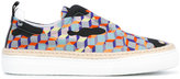 Pierre Hardy cube print espadrilles - men - Leather/Nylon/Polyester/rubber - 39