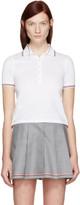 Thom Browne White Short Sleeve Polo