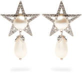 Miu Miu Star faux-pearl and crystal clip-on earrings
