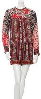 Etoile Isabel Marant Printed Long Sleeve Romper w/ Tags